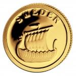 Gold Coin SWEDEN 2008, Liberia - 1/50 oz
