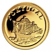 Золотая монета ПОРТУГАЛИЯ 2008, Либерия - 1/50 унции