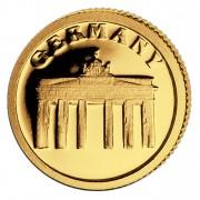 Золотая монета ГЕРМАНИЯ 2008, Либерия - 1/50 унции