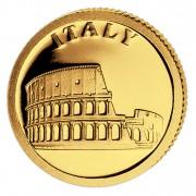 Золотая монета ИТАЛИЯ 2008, Либерия - 1/50 унции