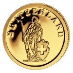Gold Coin SWITZERLAND 2008, Liberia - 1/50 oz