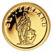 Золотая монета ШВЕЙЦАРИЯ 2008, Либерия - 1/50 унции