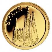Золотая монета ИСПАНИЯ 2008, Либерия - 1/50 унции