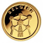 Золотая монета БЕЛЬГИЯ 2008, Либерия - 1/50 унции
