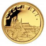 Золотая монета ЧЕХИЯ 2008, Либерия - 1/50 унции