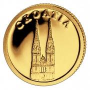 Золотая монета ХОРВАТИЯ 2008, Либерия - 1/50 унции