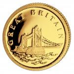 Золотая монета ВЕЛИКОБРИТАНИЯ 2008, Либерия - 1/50 унции