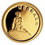 Золотая монета ДАНИЯ 2008, Либерия - 1/50 унции