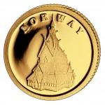 Золотая монета НОРВЕГИЯ 2008, Либерия - 1/50 унции