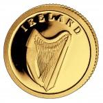Золотая монета ИРЛАНДИЯ 2008, Либерия - 1/50 унции