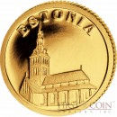 "Liberia ESTONIA $12 ""European Collection"" series Gold coin 2011 Proof"