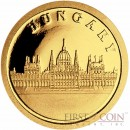 "Liberia HUNGARY $12 ""European Collection"" series Gold coin 2008 Proof"