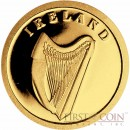 "Liberia IRELAND $12 ""European Collection"" series Gold coin 2008 Proof"