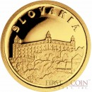 "Liberia SLOVAKIA $12 ""European Collection"" series Gold coin 2008 Proof"