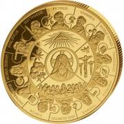 Gold Puzzle Coin APOSTLE THALER 2008, Liberia - 1 kg