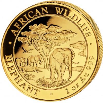 """Gold Bullion Coin ELEPHANT 2012 """"African Wildlife"""" Series - 1 oz"""