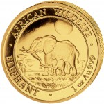 "Gold Bullion Coin ELEPHANT 2011 ""African Wildlife"" Series - 1 oz"