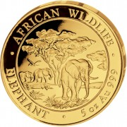 "Gold Coin ELEPHANT 2012 ""African Wildlife"" Series - 5 oz"