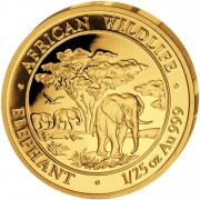"Gold Coin ELEPHANT 2012 ""African Wildlife"" Series - 1/25 oz"