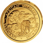 "Gold Coin ELEPHANT 2012 ""African Wildlife"" Series - 1/50 oz"