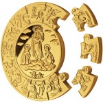 Gold Puzzle Coin HOLY MARIA 2010, Liberia - 1 kg