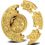 Gold Puzzle Coin RUSSIAN FAIRY TALES 2009 - 1 kg