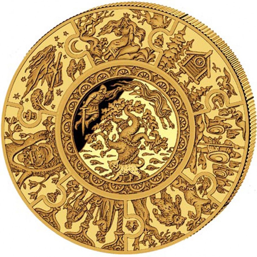 Gold Puzzle Coin Russian Fairy Tales 2009 1 Kg