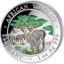 "Silver Colored Coin ELEPHANT 2012 ""African Wildlife"" Series - 1 oz"