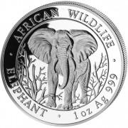 """Silver Bullion Coin ELEPHANT 2004 """"African Wildlife"""" Series - 1 oz"""