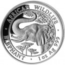 "Silver Bullion Coin ELEPHANT 2005 ""African Wildlife"" Series - 1 oz"