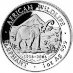 "Silver Bullion Coin ELEPHANT 2006 ""African Wildlife"" Series - 1 oz"