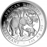 "Silver Bullion Coin ELEPHANT 2007 ""African Wildlife"" Series - 1 oz"