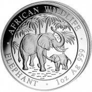 """Silver Bullion Coin ELEPHANT 2007 """"African Wildlife"""" Series - 1 oz"""