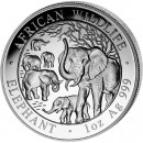 "Silver Bullion Coin ELEPHANT 2008 ""African Wildlife"" Series - 1 oz"