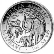 """Silver Bullion Coin ELEPHANT 2008 """"African Wildlife"""" Series - 1 oz"""