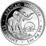 """Silver Bullion Coin ELEPHANT 2009 """"African Wildlife"""" Series - 1 oz"""
