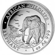"""Silver Bullion Coin ELEPHANT 2010 """"African Wildlife"""" Series - 1 oz"""
