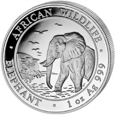 Серебряная инвестиционная монета СЛОН 2010 серии «Африканские Животные» - 1 унция