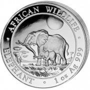 """Silver Bullion Coin ELEPHANT 2011 """"African Wildlife"""" Series - 1 oz"""