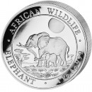 "Silver Bullion Coin ELEPHANT 2011 ""African Wildlife"" Series - 1 kg"