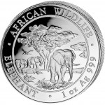"Silver Bullion Coin ELEPHANT 2012 ""African Wildlife"" Series - 1 oz"