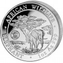 "Silver Bullion Coin ELEPHANT 2012 ""African Wildlife"" Series Dragon Privy - 1 oz"