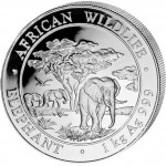 "Silver Bullion Coin ELEPHANT 2012 ""African Wildlife"" Series - 1 kg"