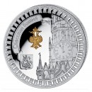 "Silver Gilded Coin SPASSKI-TOWER 2011 ""Moscow Kremlin"" Series, Liberia - 1 oz"