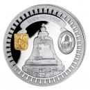 "Silver Gilded Coin TSARS-BELL 2011 ""Moscow Kremlin"" Series, Liberia - 1 oz"