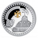 "Silver Gilded Coin TSARS-HAT 2011 ""Moscow Kremlin"" Series, Liberia - 1 oz"