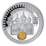 "Silver Gilded Coin USPENSKI-CATHEDRAL 2011 ""Moscow Kremlin"" Series, Liberia - 1 oz"