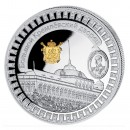 "Silver Gilded Coin KREMLIN PALACE 2011 ""Moscow Kremlin"" Series, Liberia - 1 oz"