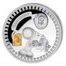 "Silver Gilded Coin TSARS-CANNON 2011 ""Moscow Kremlin"" Series, Liberia - 1 oz"