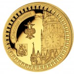 "Gold Coin SPASSKI-TOWER 2011 ""Moscow Kremlin"" Series, Liberia - 5 oz"